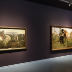 Viktor Vasnetsov, Ridder op een driesprong, 1878-1881, Veldslag tussen Scythen en Slaven, 1881, Groninger Museum, Russische sprookjes, volksverhalen en legenden. (foto Marten de Leeuw)