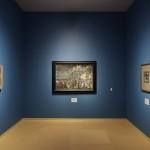 Vasili Kandinsky, Zondag (oud-Russisch), 1904, Aankomst van de kooplieden, 1905, Groninger Museum, Russische sprookjes, volksverhalen en legenden. (foto Marten de Leeuw)
